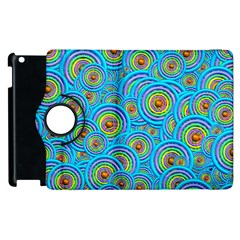Digital Art Circle About Colorful Apple Ipad 3/4 Flip 360 Case by Nexatart