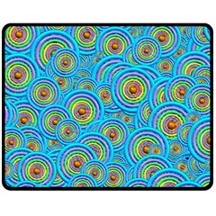 Digital Art Circle About Colorful Double Sided Fleece Blanket (medium)  by Nexatart