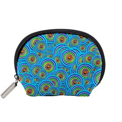 Digital Art Circle About Colorful Accessory Pouches (small)  by Nexatart