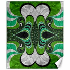 Fractal Art Green Pattern Design Canvas 8  X 10  by Nexatart