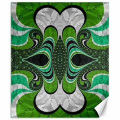 Fractal Art Green Pattern Design Canvas 20  X 24   by Nexatart