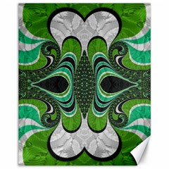 Fractal Art Green Pattern Design Canvas 11  X 14   by Nexatart