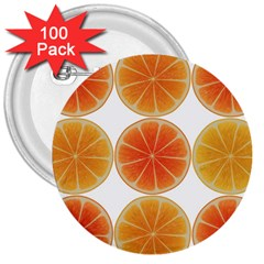 Orange Discs Orange Slices Fruit 3  Buttons (100 Pack)  by Nexatart