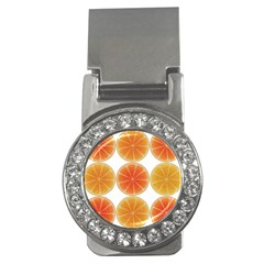 Orange Discs Orange Slices Fruit Money Clips (cz)  by Nexatart