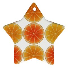 Orange Discs Orange Slices Fruit Star Ornament (two Sides) by Nexatart