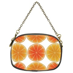 Orange Discs Orange Slices Fruit Chain Purses (two Sides)