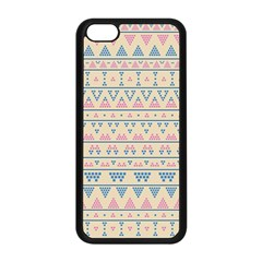 Blue And Pink Tribal Pattern Apple Iphone 5c Seamless Case (black) by berwies
