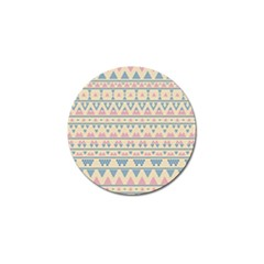 Blue And Pink Tribal Pattern Golf Ball Marker (4 Pack) by berwies