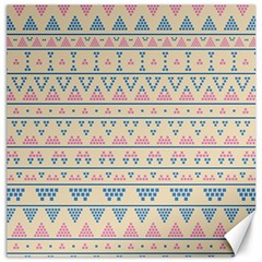 Blue And Pink Tribal Pattern Canvas 20  X 20   by berwies