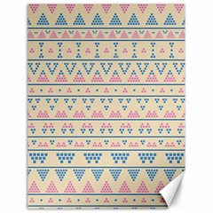 Blue And Pink Tribal Pattern Canvas 18  X 24   by berwies