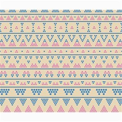 Blue And Pink Tribal Pattern Canvas 20  X 24   by berwies