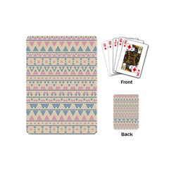 Blue And Pink Tribal Pattern Playing Cards (mini)