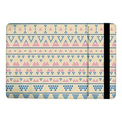 Blue And Pink Tribal Pattern Samsung Galaxy Tab Pro 10 1  Flip Case