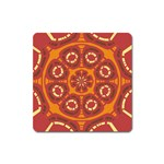 Dark Red Abstract Square Magnet Front