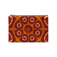 Dark Red Abstract Cosmetic Bag (medium)  by linceazul