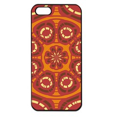Dark Red Abstract Apple Iphone 5 Seamless Case (black) by linceazul