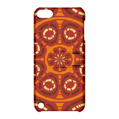 Dark Red Abstract Apple Ipod Touch 5 Hardshell Case With Stand by linceazul