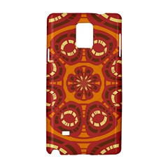 Dark Red Abstract Samsung Galaxy Note 4 Hardshell Case by linceazul