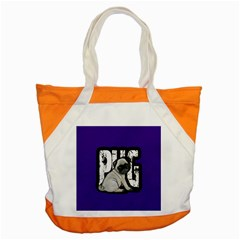 Pug Accent Tote Bag by Valentinaart