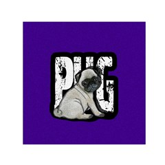 Pug Small Satin Scarf (square) by Valentinaart