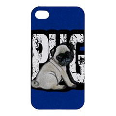 Pug Apple Iphone 4/4s Premium Hardshell Case by Valentinaart