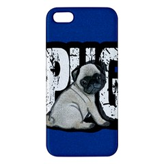 Pug Apple Iphone 5 Premium Hardshell Case by Valentinaart