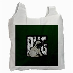 Pug Recycle Bag (two Side)  by Valentinaart