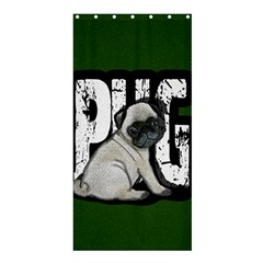 Pug Shower Curtain 36  X 72  (stall)