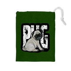 Pug Drawstring Pouches (large)