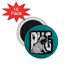 Pug 1 75  Magnets (10 Pack)  by Valentinaart