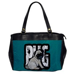 Pug Office Handbags by Valentinaart