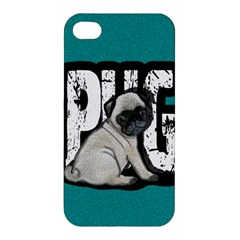 Pug Apple Iphone 4/4s Hardshell Case by Valentinaart