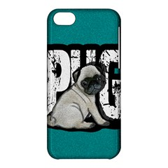 Pug Apple Iphone 5c Hardshell Case by Valentinaart