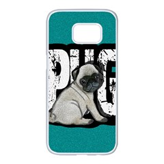 Pug Samsung Galaxy S7 Edge White Seamless Case