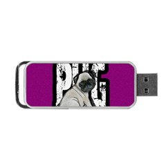 Pug Portable Usb Flash (two Sides)