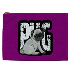 Pug Cosmetic Bag (xxl)  by Valentinaart