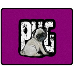 Pug Double Sided Fleece Blanket (medium)