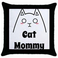 Love My Cat Mommy Throw Pillow Case (black) by Catifornia