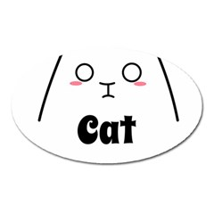Love My Cat Mommy Oval Magnet by Catifornia