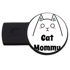 Love My Cat Mommy Usb Flash Drive Round (2 Gb) by Catifornia