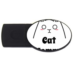 Love My Cat Mommy Usb Flash Drive Oval (2 Gb) by Catifornia
