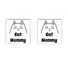 Love My Cat Mommy Cufflinks (square) by Catifornia