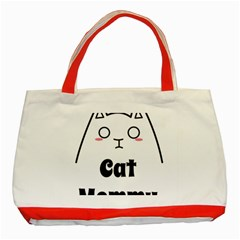 Love My Cat Mommy Classic Tote Bag (red) by Catifornia