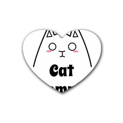 Love My Cat Mommy Heart Coaster (4 Pack)  by Catifornia