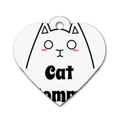 Love My Cat Mommy Dog Tag Heart (two Sides) by Catifornia