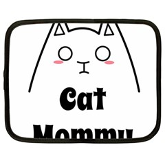 Love My Cat Mommy Netbook Case (large) by Catifornia