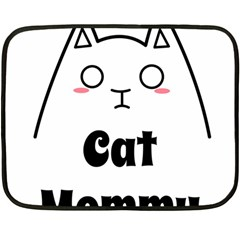 Love My Cat Mommy Double Sided Fleece Blanket (mini)  by Catifornia
