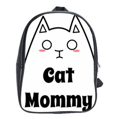 Love My Cat Mommy School Bags(large)  by Catifornia
