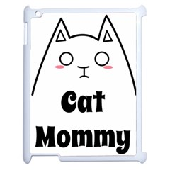 Love My Cat Mommy Apple Ipad 2 Case (white) by Catifornia
