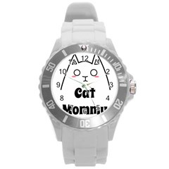 Love My Cat Mommy Round Plastic Sport Watch (l) by Catifornia